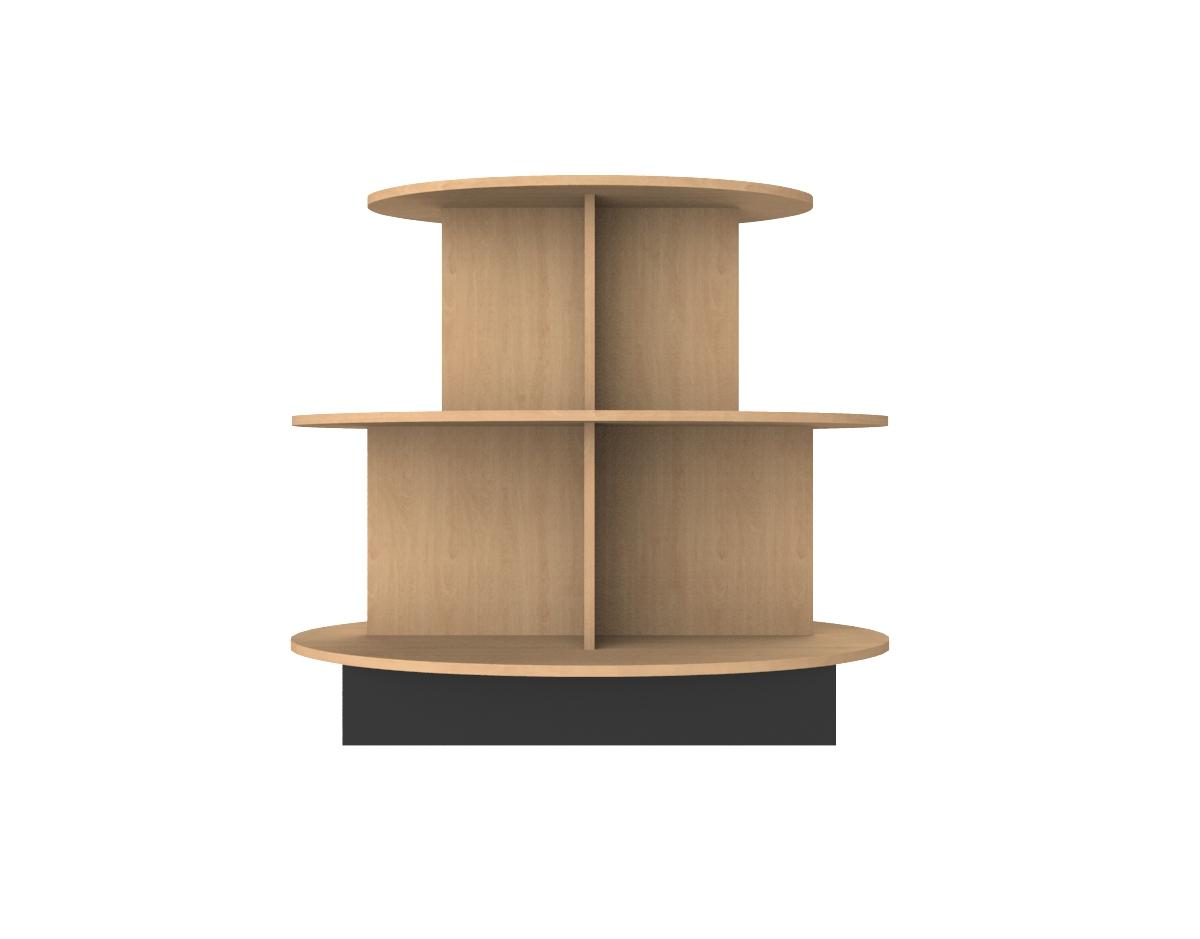 Oval Retail Table 4 X 4 X 3 Ivars Displays